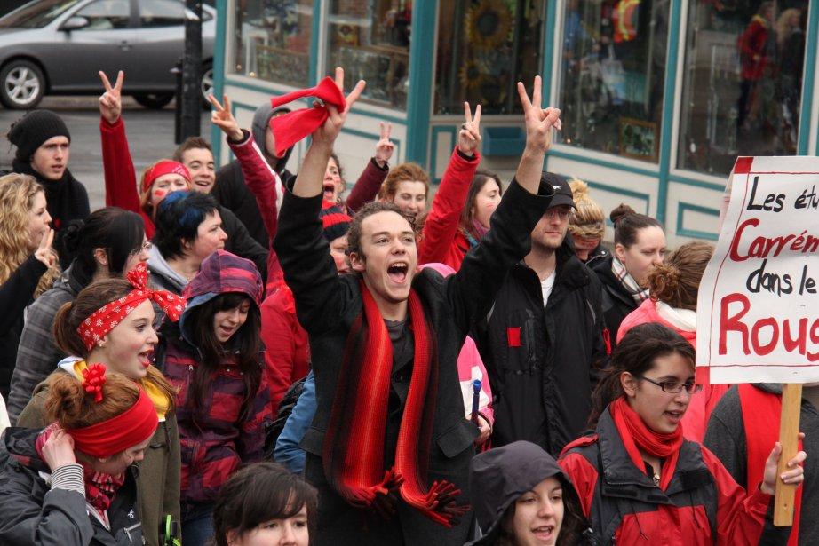 L'une des nombreuses manifestations étudiantes dans les rues de Granby, où le mouvement de mécontentement a pris passablement moins d'ampleur qu'à Montréal. | 3 janvier 2013
