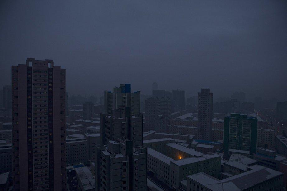 Pyongyang à la tombée de la nuit | 3 janvier 2013