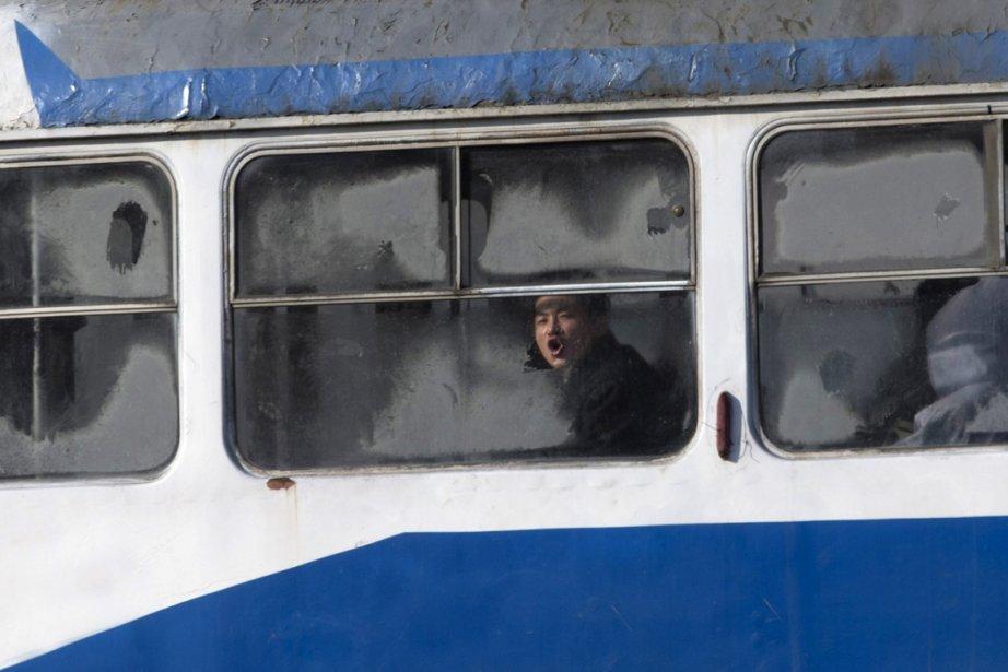 Un passager d'un tramway de Pyongyang | 3 janvier 2013