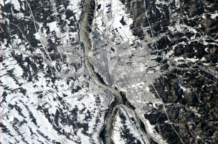 Québec vue de l'espace | 3 janvier 2013