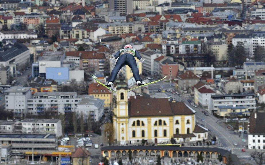 Séance d'entrainement de saut à ski à Innsbruck en Autriche | 3 janvier 2013
