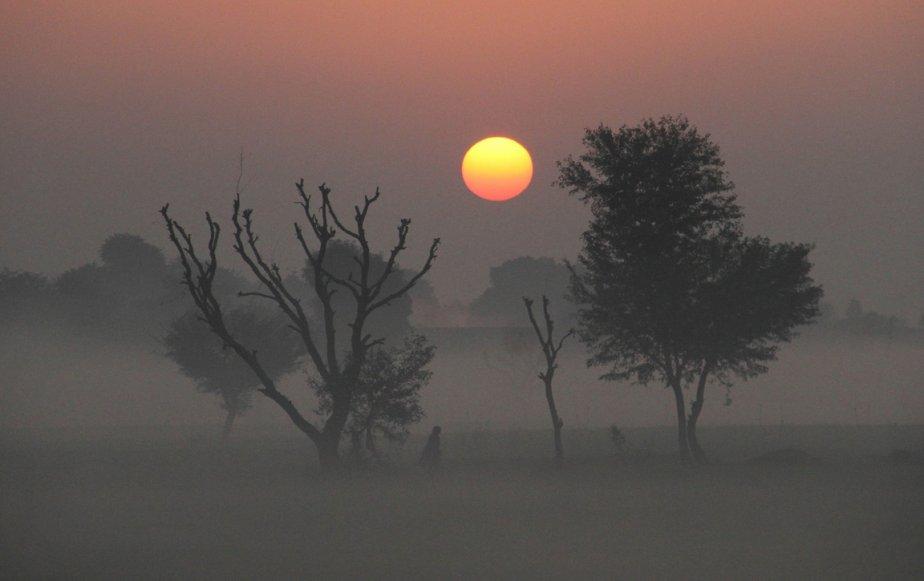 Épais brouillard sur Ajmer en Inde. | 3 janvier 2013