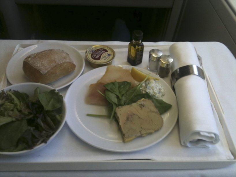 Repas sur Air France. (Photo Paul Durivage, La Presse)