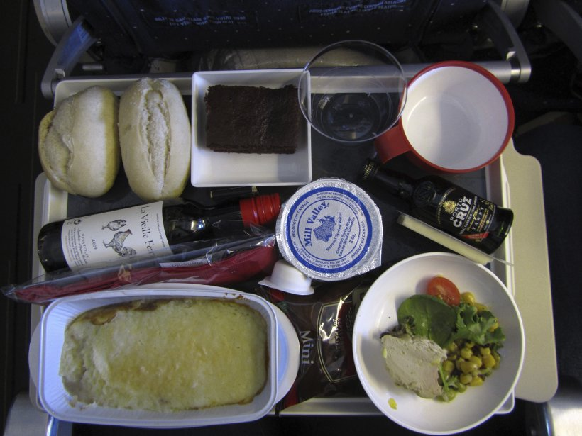 Repas sur Air France. (Photo: Marielle Bedek)