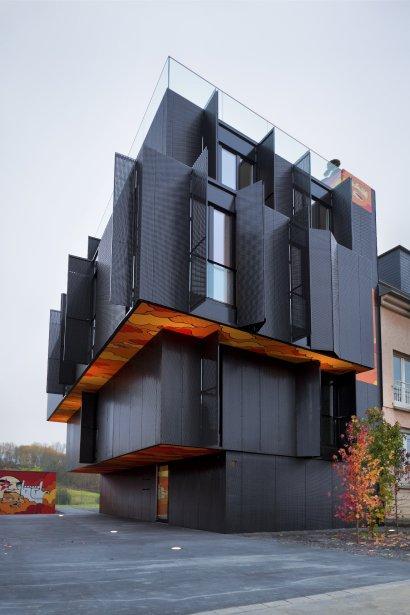 La maison de la rue de Cessange, au Luxembourg. | 7 janvier 2013