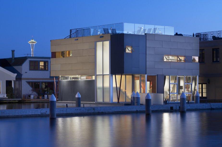 La Lake Union houseboat, située au 2368 Fairview Avenue East, à Seattle. | 7 janvier 2013