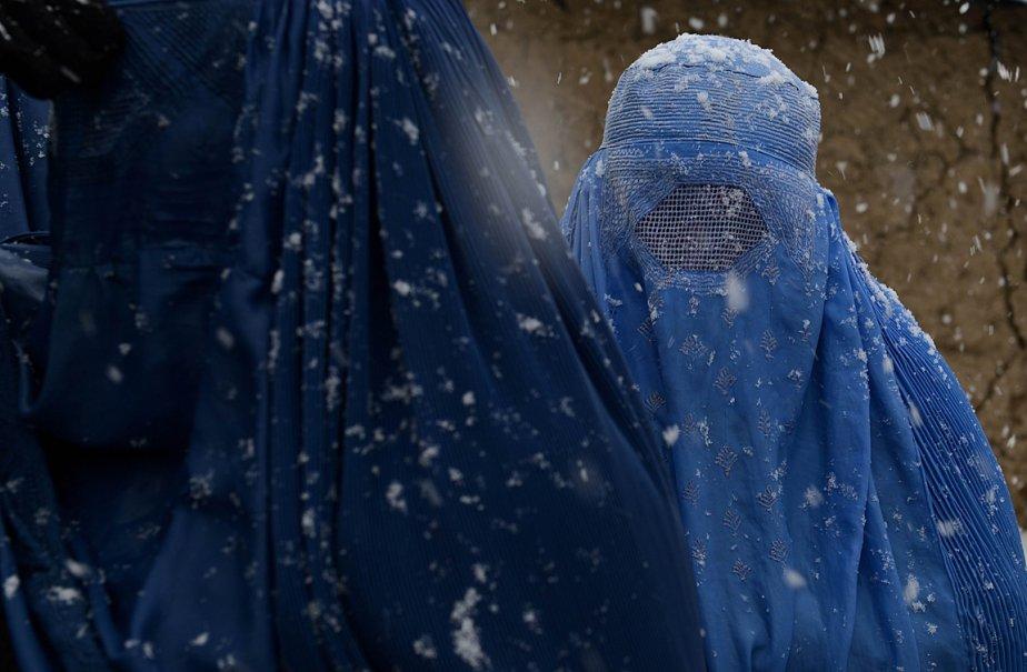 Des réfugiées afghanes au camp de Charni Qambar, en banlieue de Kaboul. | 7 janvier 2013