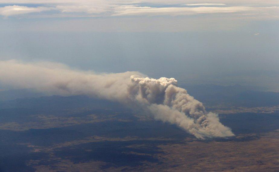 Un feu de brousse près de Cooma à 100 kilomètres de la capitale australienne. | 8 janvier 2013