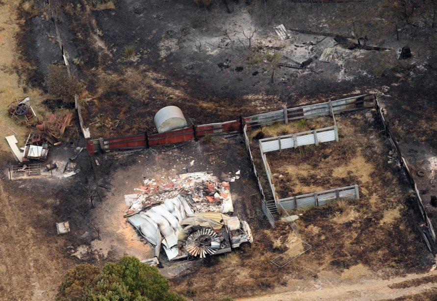 Vue aérienne d'un quartier résidentiel de Boomer Bay. | 8 janvier 2013