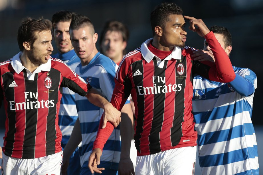 Kevin-Prince Boateng (à droite), de l'AC Milan, a... (Photo: AP)