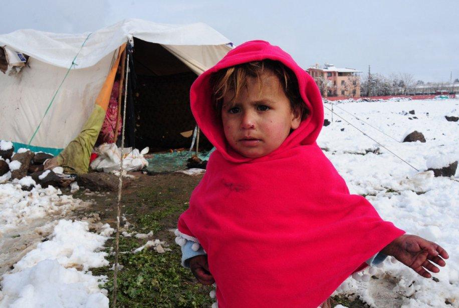 Une jeune réfugiée syrienne au camps de Diyarbakir en Turquie | 9 janvier 2013