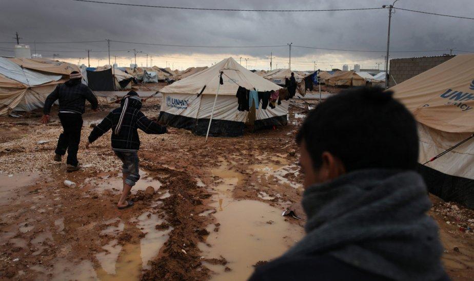 Le camp de réfugiés de Zaataru en Jordanie. | 9 janvier 2013