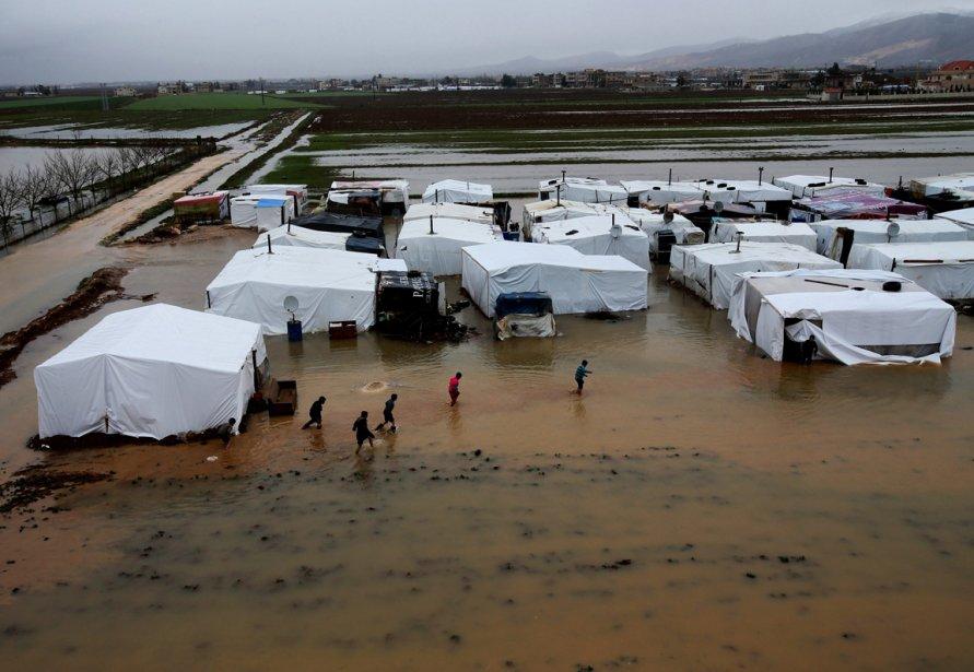 Le camp de réfugiés de Al-Faour au Liban. | 9 janvier 2013