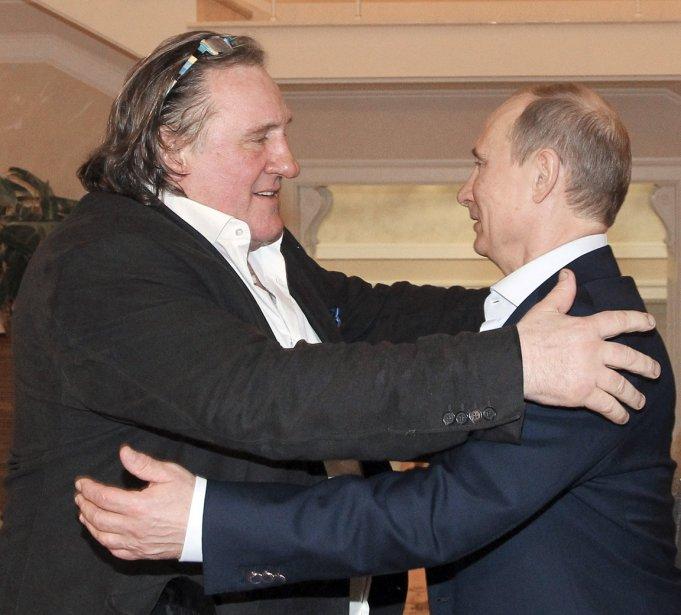 Gérare Depardieu rencontre Vladimir Poutine à Sochi en Russie. | 11 janvier 2013