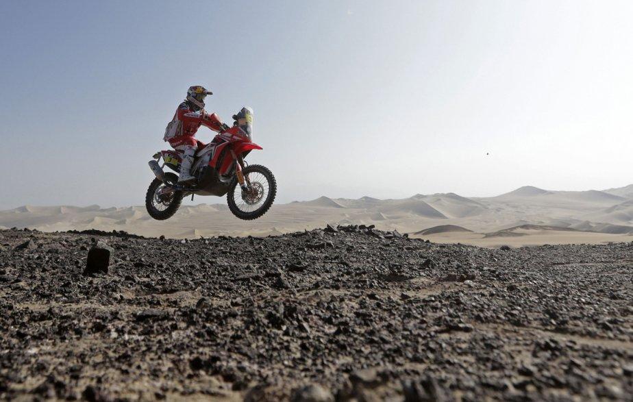Le portugais Helder Rodrigues lors de la troisième étape du Dakar 2013 entre Pisco et Nazca au Pérou | 11 janvier 2013