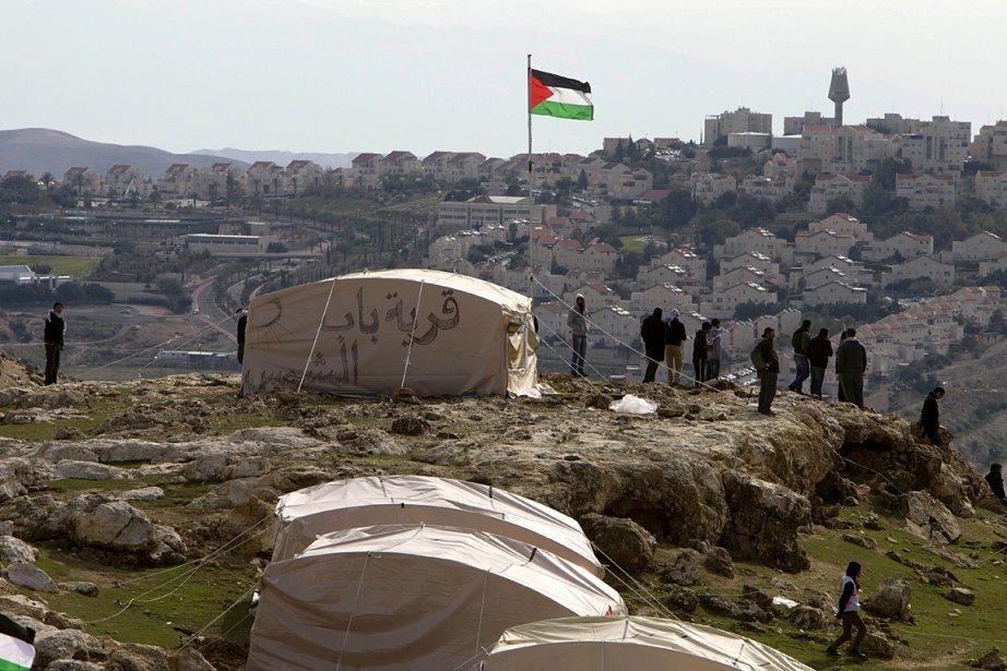 Les Palestiniens s'étaient installés à cet endroit avant... (Photo: AFP)