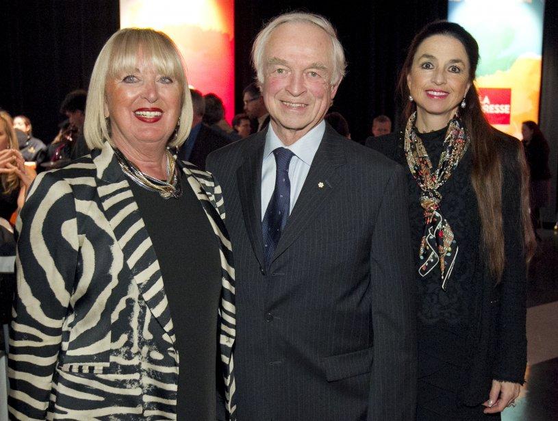 Lisette Jean, présidente et fondatrice de la Maison Monbourquette, Raymond Royer, membre du C.A. de Gesca, et sa conjointe France Denis. | 14 janvier 2013