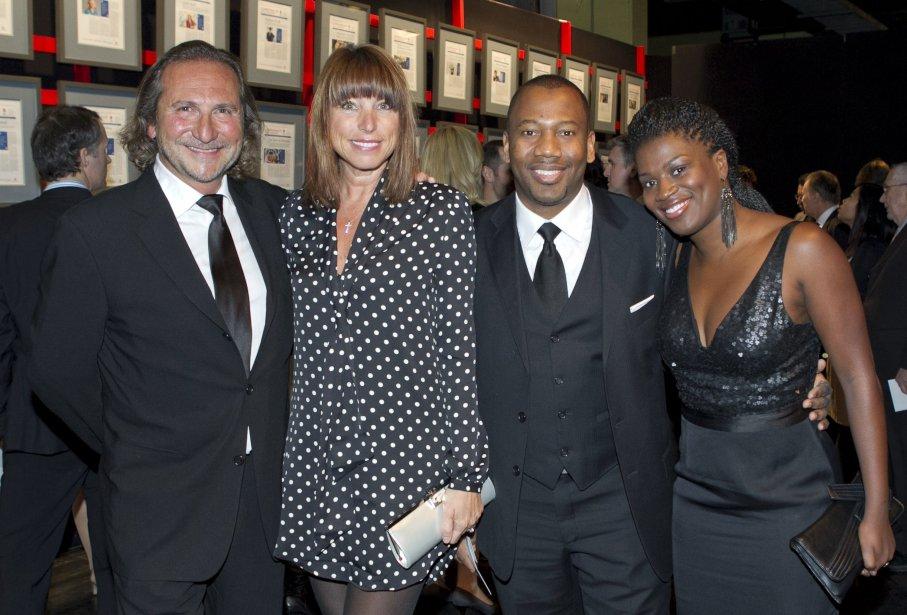 Franco Nuovo, membre du jury, la comédienne Rosie Yale, Evens Guercy et sa compagne, Carla Beauvais. | 14 janvier 2013
