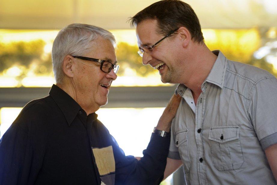 Claude Nobs et Mathieu Jaton en 2011.... (Photo: archives AFP)