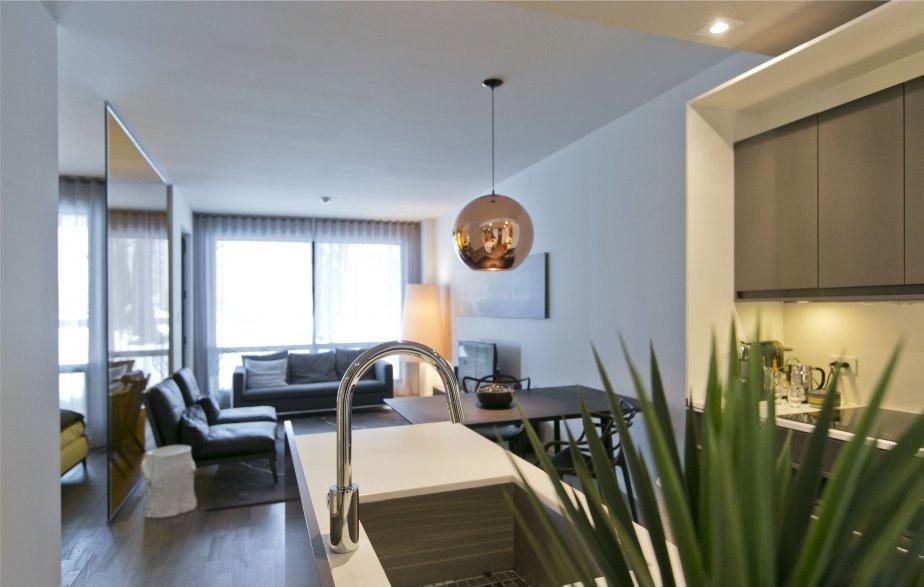 Le bureau des ventes du projet, qui comporte un appartement-témoin de 638 pi2, a été créé par Innédesign + MP1. Pour cette réalisation, l'équipe a remporté un des Grands Prix du design, décernés en décembre. | 15 janvier 2013