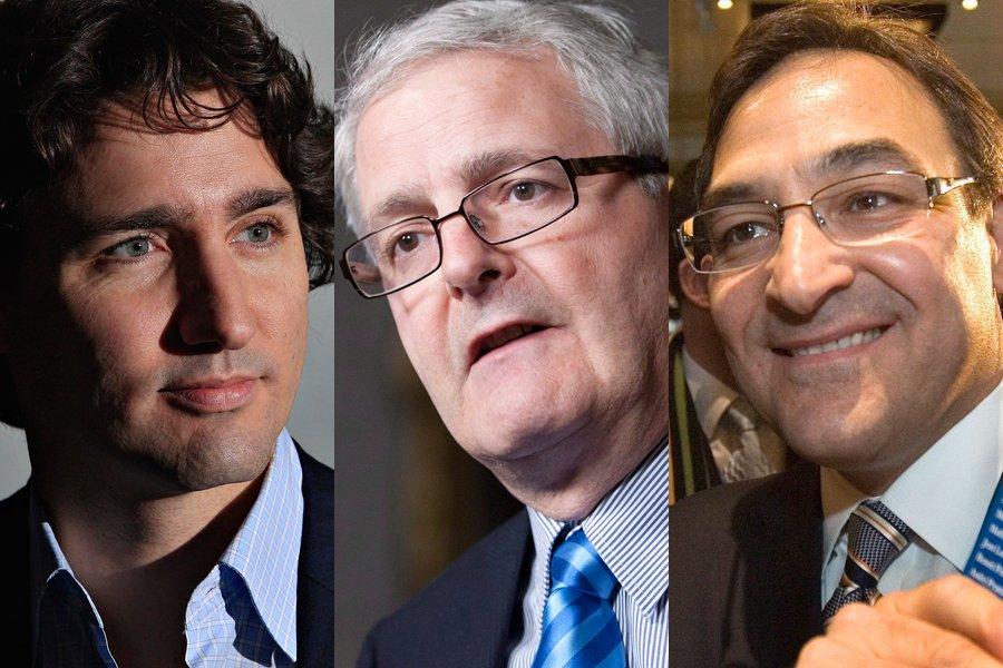 Justin Trudeau, Marc Garneau et Martin Cauchon.... (Photos: Le Soleil et PC)