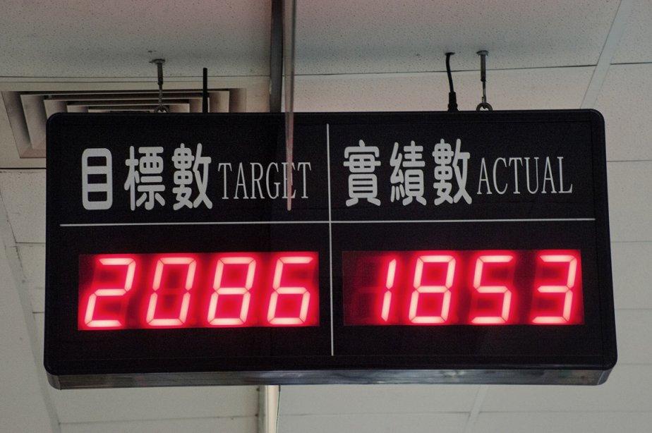 Encore 233 unités pour atteindre l'objectif de production. | 17 janvier 2013