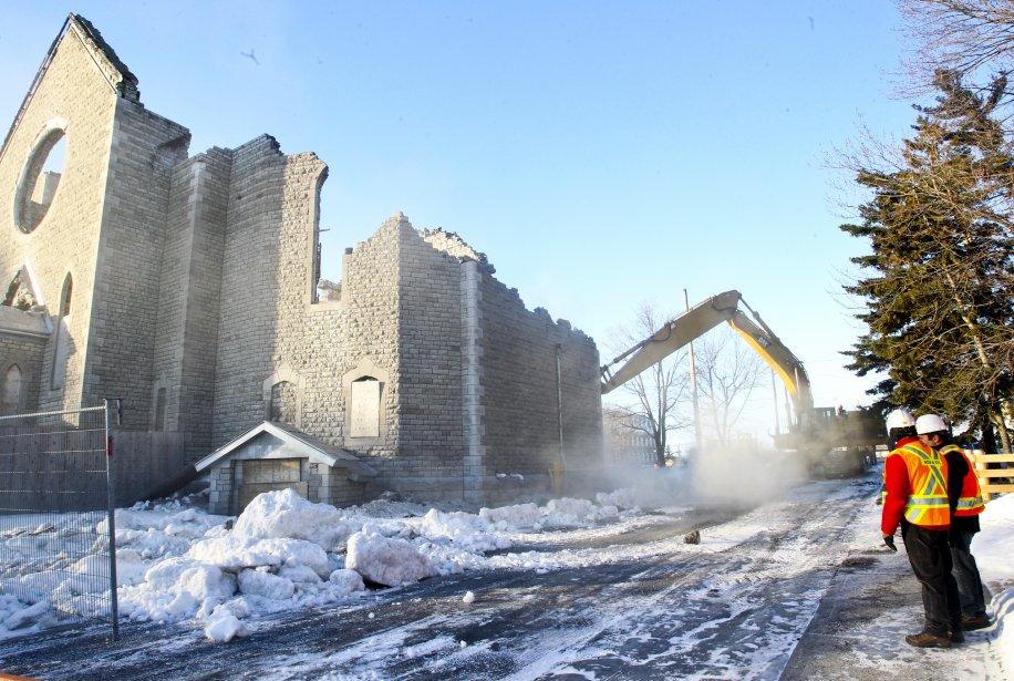 Les ruines de l'église Saint-Paul, dans le secteur Aylmer, ont... | 2013-01-17 00:00:00.000