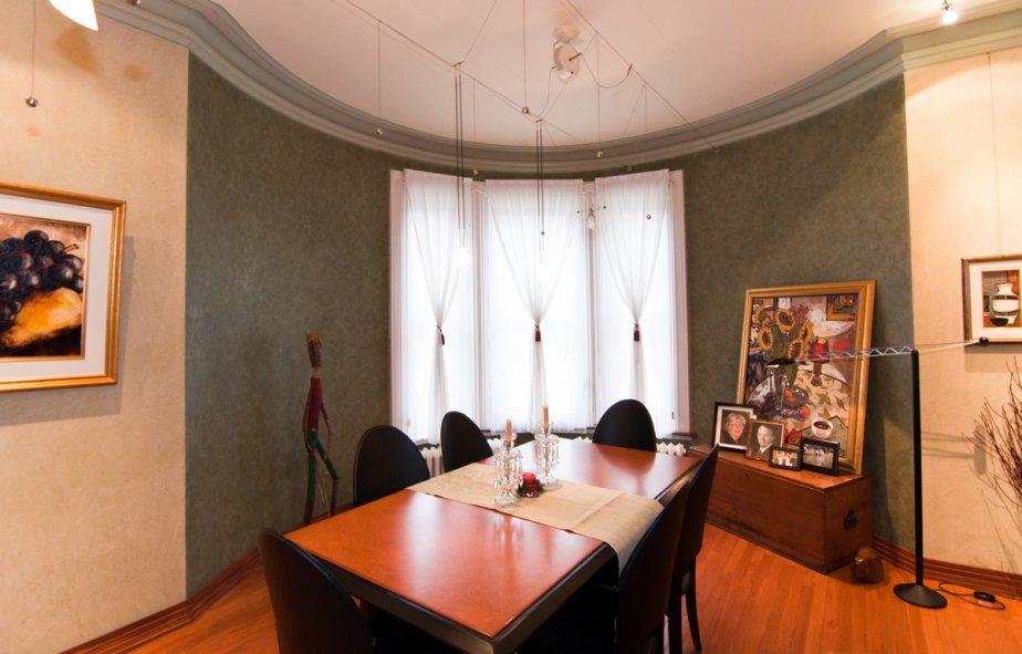 La partie mitoyenne de la tourelle abrite un bureau. | 17 janvier 2013