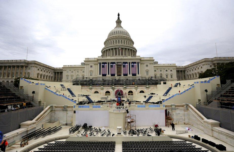 Derniers préparatifs e vue de l'investiture du président Barack Obama, le lundi 21 janvier, au Capitole, à Washington, pour son second mandat. | 18 janvier 2013
