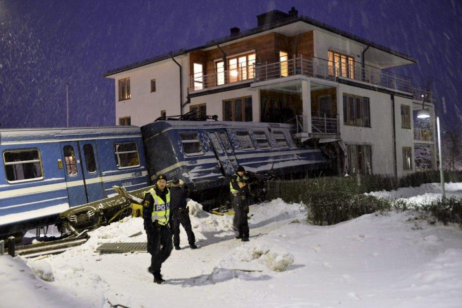 Un déraillement de train à Saltsjoebaden en Suède. | 18 janvier 2013