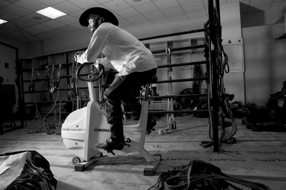 Harve Stewart s'échauffe avant la compétition. | 18 janvier 2013
