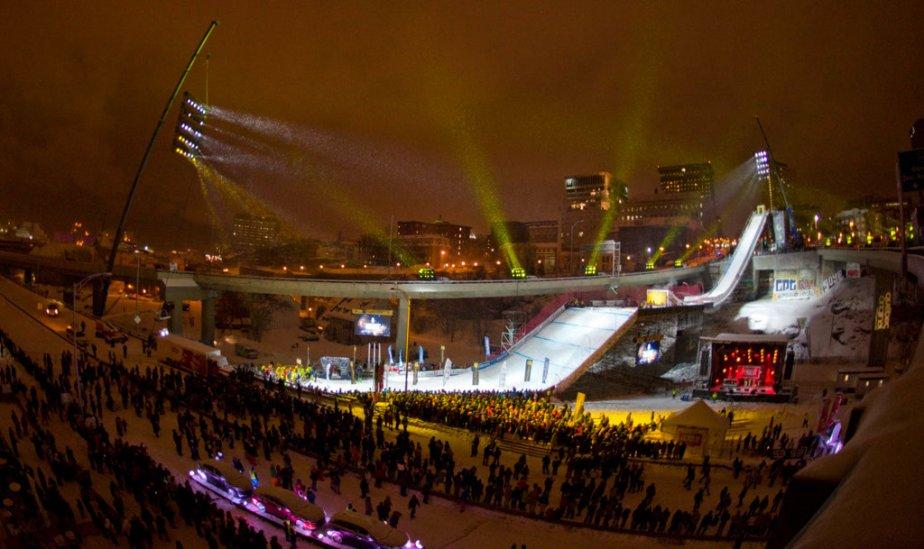 La finale du Big Air, l'une des disciplines des Championnats... | 2013-01-20 00:00:00.000