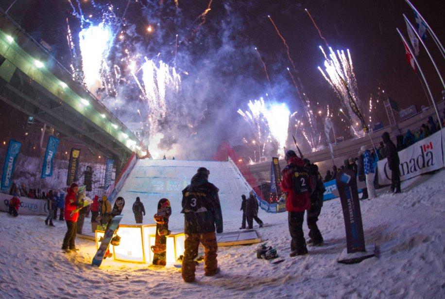 La finale du Big Air, l'une des disciplines des Championnats du monde FIS de snowboard, qui s'est tenue au centre-ville de Québec le samedi 19 janvier. | 20 janvier 2013
