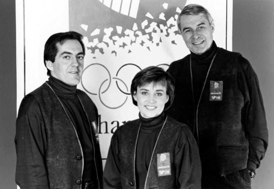 Sylvie Bernier, Gaétan Boucher et Richard Garneau lors des Olympiques de Lillehammer. | 20 janvier 2013