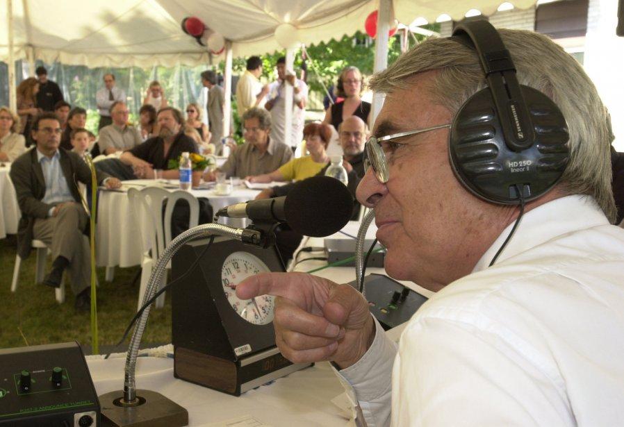 Richard Garneau, en 2001, lors du lancement de la programmation de la radio de Radio-Canada. | 20 janvier 2013