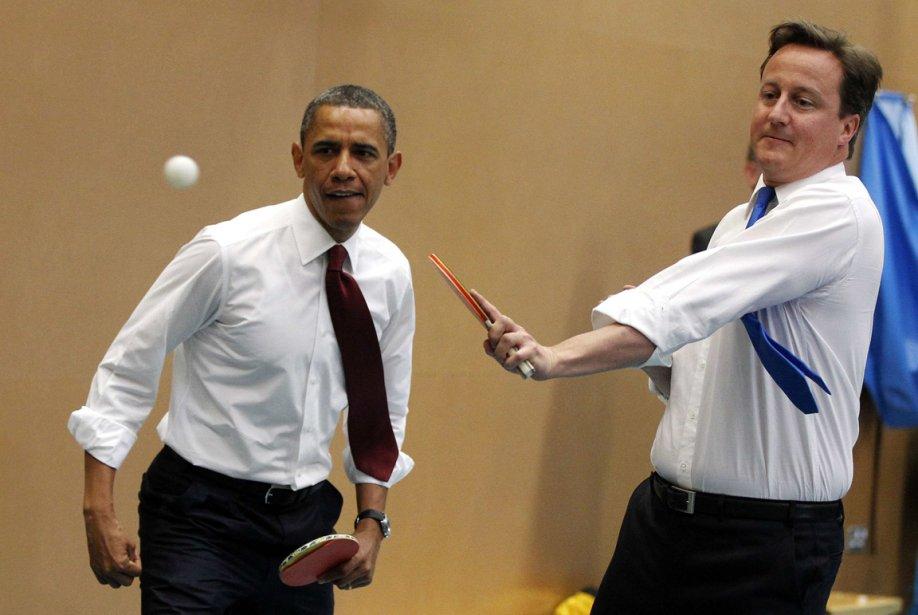 P:arti de pingpong avec le premier ministre britannique David Cameron... | 2013-01-21 00:00:00.000