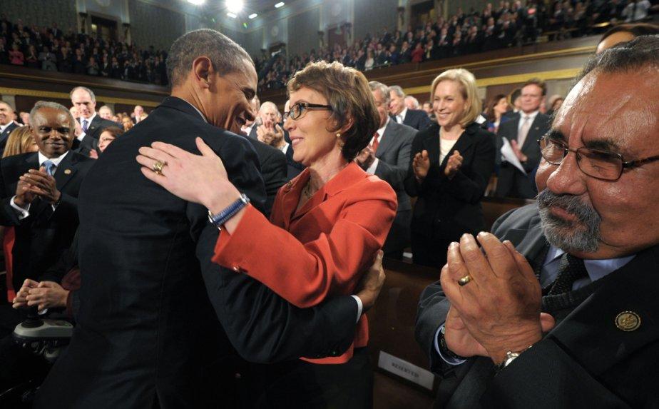 Rencontre avec Gabrielle Giffords avant le discours de l'état de l'union le 24 janvier 2012 | 21 janvier 2013