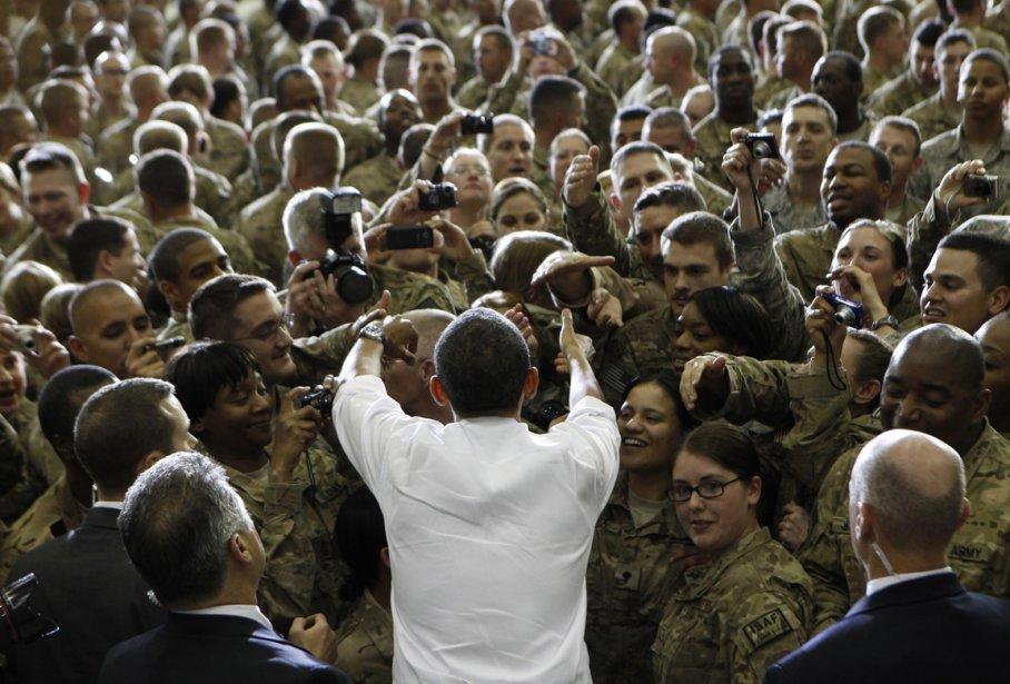 Rencontre avec des soldats américains à la base de Bagram en Afghanistan. | 21 janvier 2013