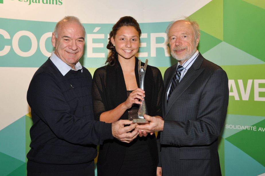 Athlète féminine de niveau québécois. Bernard Nault, Marie-Laurence Godin et Jean Gauthier. | 21 janvier 2013