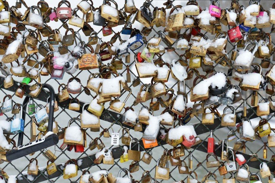 Les cadenas du pont des arts à Paris | 21 janvier 2013