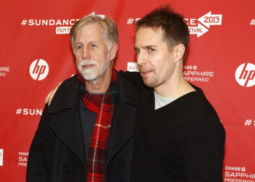 Sam Rockwell (à droite) et son père Pete Rockwell à la première de The Way, Way Back. | 22 janvier 2013