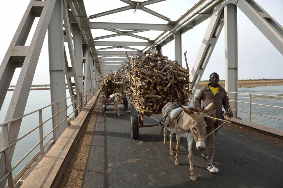 Un marchand de bois sur un pont traversant le Niger | 23 janvier 2013