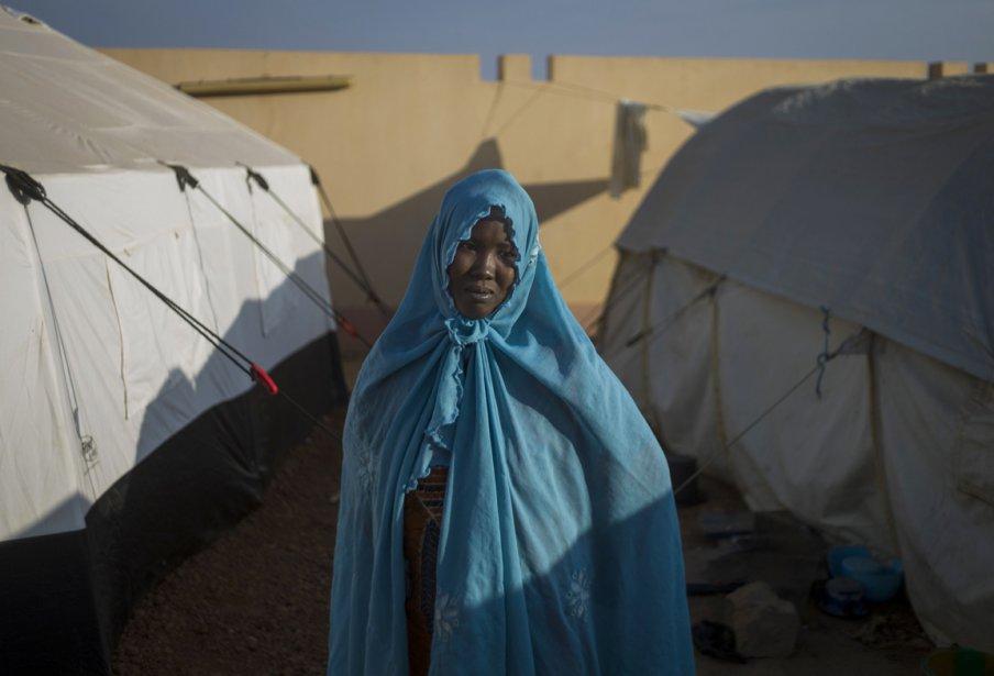Une jeune déplacée du nord du Mali au camp de Sevare | 23 janvier 2013