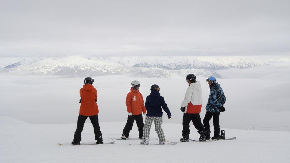 Station de ski Whistler-Blackcomb. Vue au sommet du Solar Coaster Express. | 23 janvier 2013