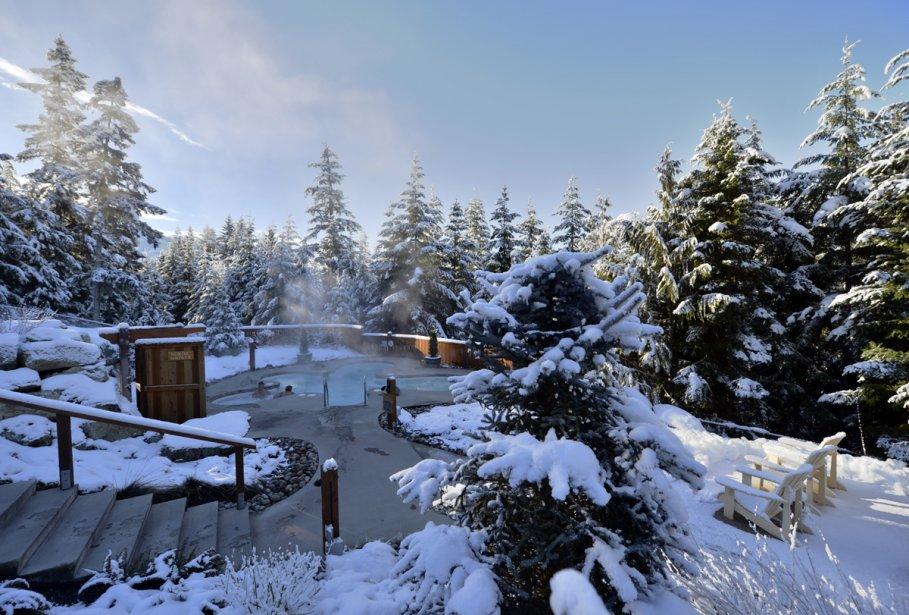 Le spa Le Scandinave, à Whistler. | 23 janvier 2013