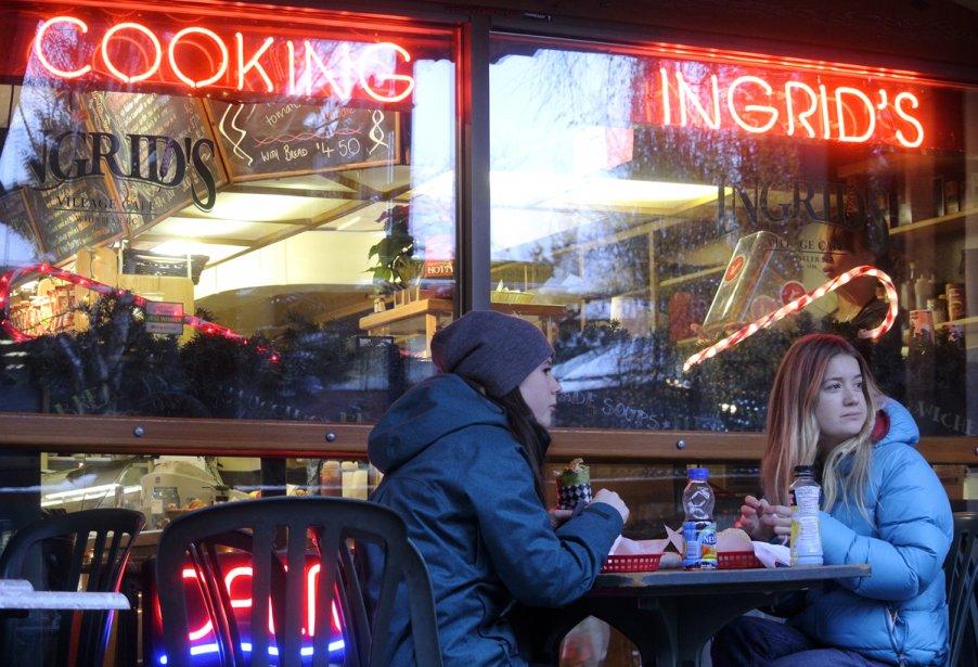 Le restaurant Ingrid's, à Whistler. | 23 janvier 2013