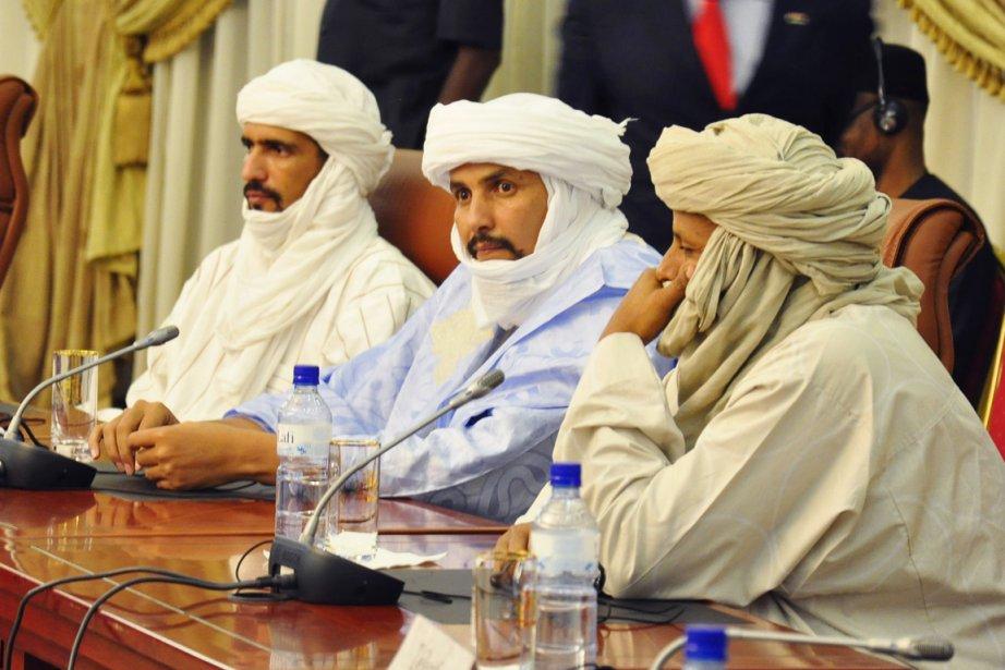 Le secrétaire général de MIA Alghabasse Ag Intalla(au... (PHOTO AHMED OUOBA, ARCHIVES AFP)