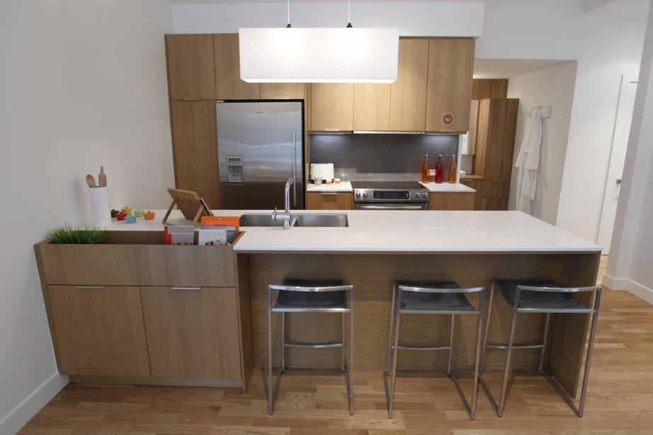 Les appartements seront plutôt haut de gamme. Dans la cuisine, les armoires seront en bois et les plans de travail, en quartz. | 24 janvier 2013