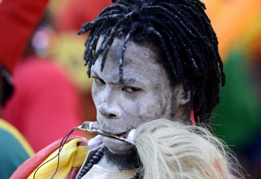 Un partisan du Ghana lors de la coupe des nations d'Afrique au stade Nelson Mandela à Port Elizabeth en Afrique du Sud. | 24 janvier 2013