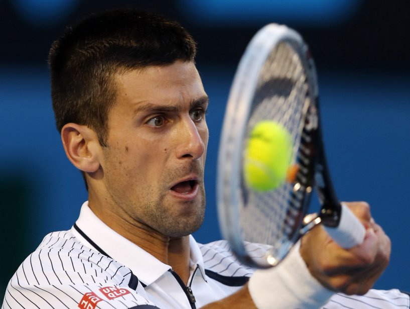 Novak Djokovic aux internationaux d'Australie | 24 janvier 2013